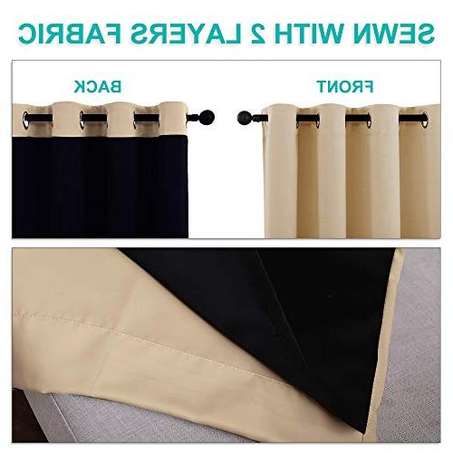 NICETOWN Blackout Curtains, Multi-Function Noise Reducing Performance Black Lining, Blocking Drapery for Patio