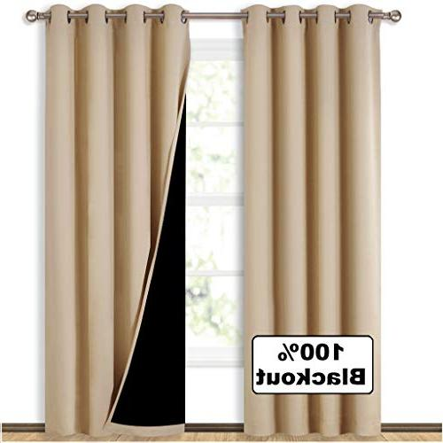 thermal insulated blackout curtains lining