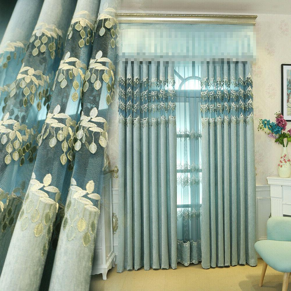 living room simple blue girl romantic curtain