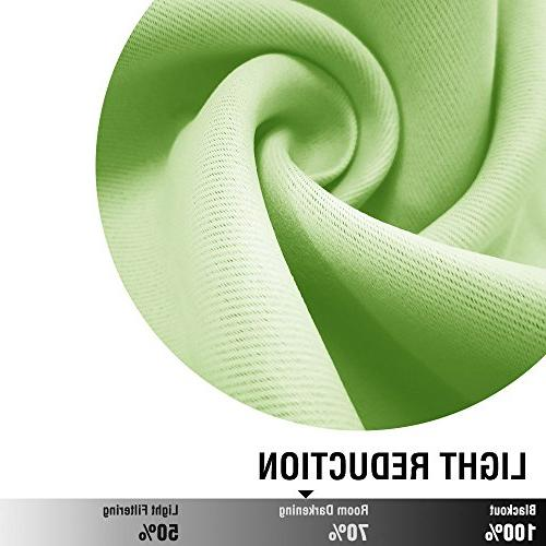 Moderate Blackout Bedroom 72 inches Room Panels for Thermal Insulated Triple Weave Panels, Green