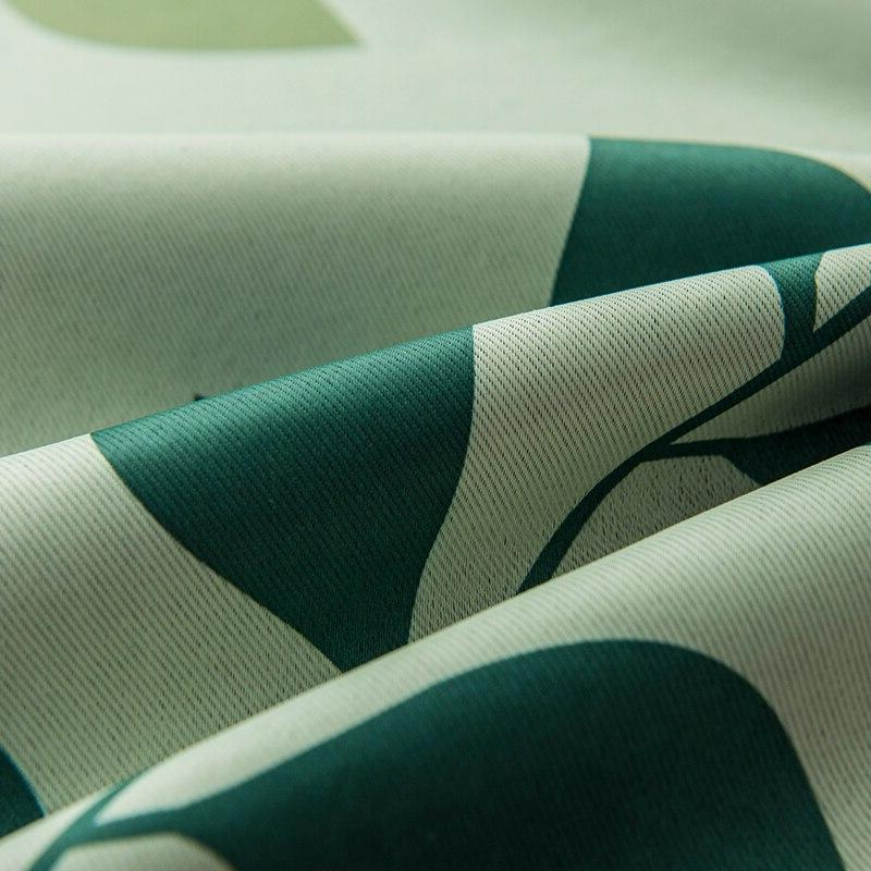 Modern Printed <font><b>Curtains</b></font> For Bedroom Leaves Thick treatment Blinds