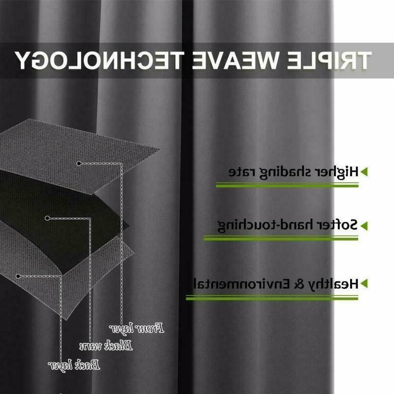 Nicetown Thermal Insulated Grommet Blackout Curtains For Bedroom