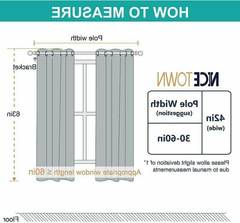 Nicetown Thermal Insulated Grommet Blackout (2 Panels, W42