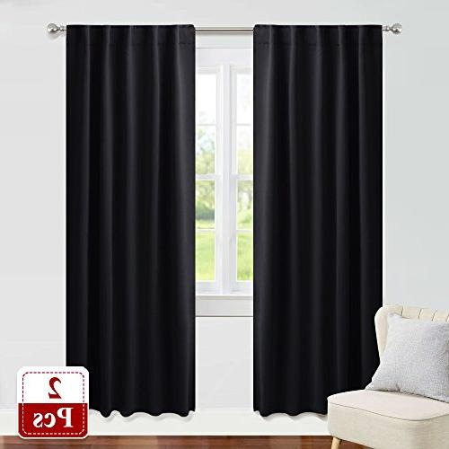 nursery blackout curtain panel set