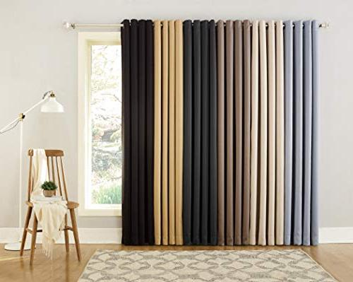 "Sun Zero Grade Extreme Blackout Grommet Curtain Panel, 52"" x 95"","
