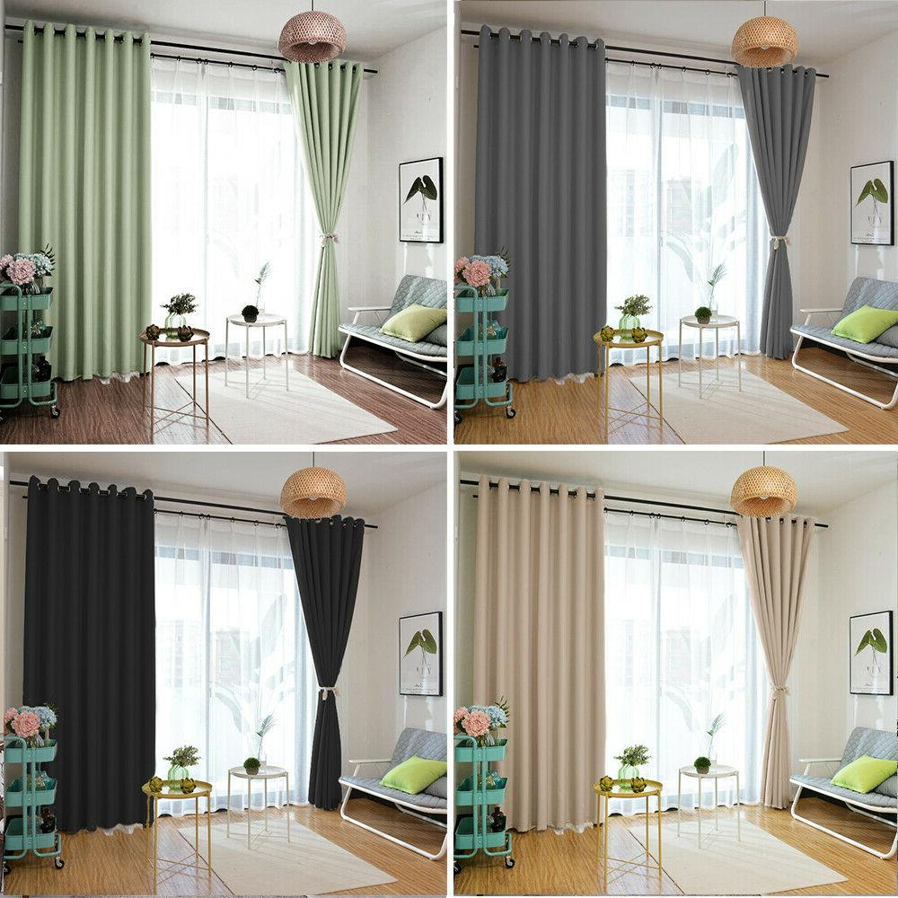 pairs of thermal blackout curtains eyelet ring
