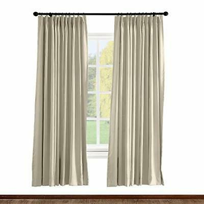 pinch pleated curtain solid thermal insulated blackout