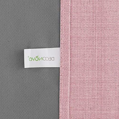 Deconovo Pink Blackout Linen Pass Coating Blackout Panels Inch Panels