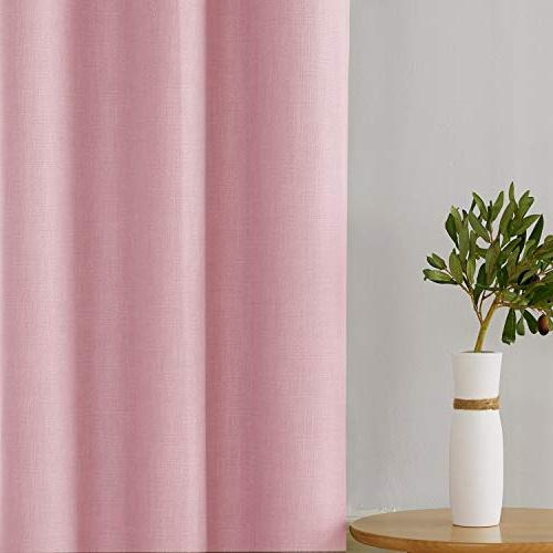 Deconovo Linen 3 Pass Coating Blackout Curtain Panels Inch Pink Panels