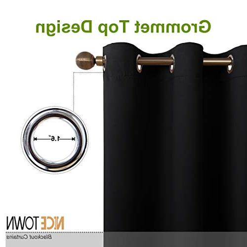 NICETOWN Autumn/Winter Thermal Solid Grommet Blackout Curtains/Drapes for Livingroom