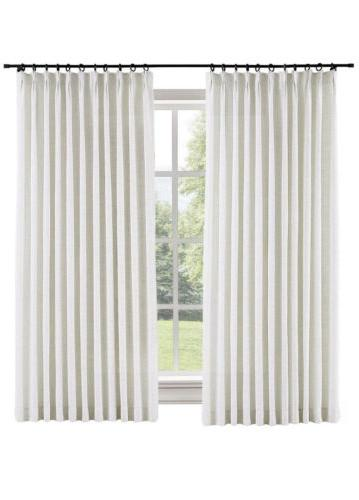 polyester linen blackout curtain 1 panel 50
