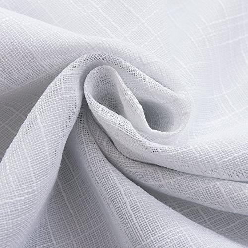 Primitive Look,100% curtainWhite blackout Thermal Insulated for Living of