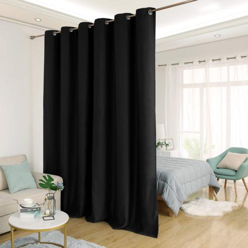 Deconovo Privacy Room Divider Curtain Thermal Insulated Blac