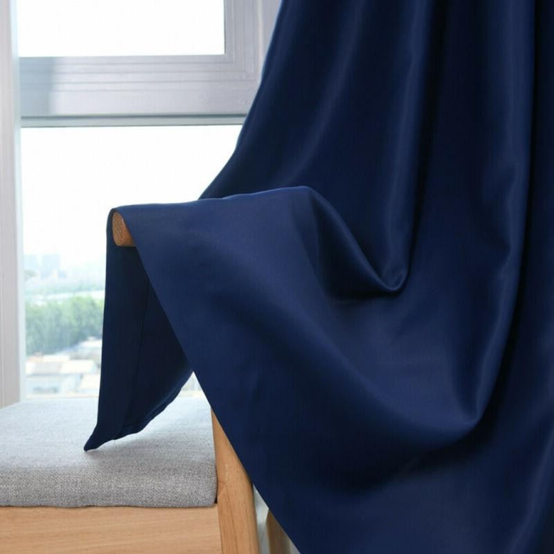Simple 2-Panels Curtains Insulated Grommet