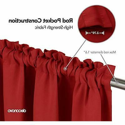 Red Blackout Curtains Rod Pocket True 42W X Inch Home
