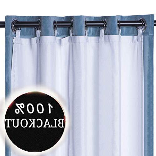 rhf thermal insulated blackout curtain