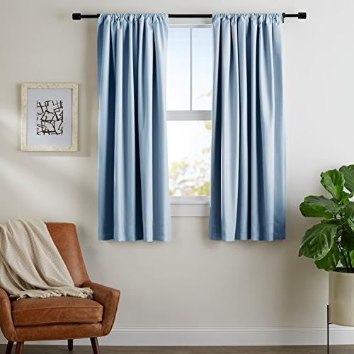 room darkening blackout curtain set
