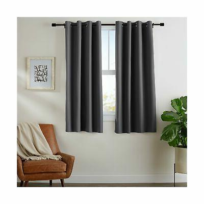room darkening blackout curtain set with grommets