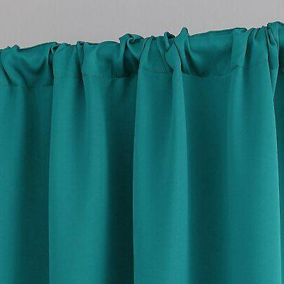 Deconovo Darkening Blackout Curtains Rod Pocket Insulated