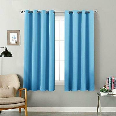 Room Darkening Curtain 63 inches Long for Living Room Modera