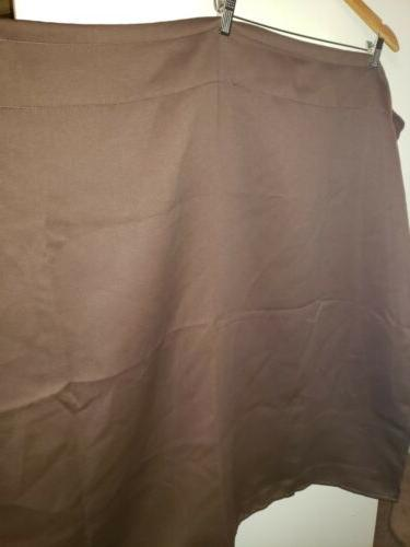 Deconovo Thermal Insulated Pocket Curtains 2 Panels Brown
