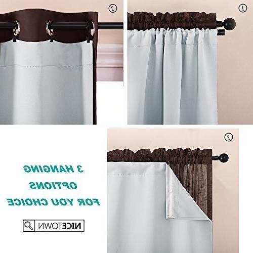 NICETOWN Blackout Liners Window Noise Reducing Liner Curtains