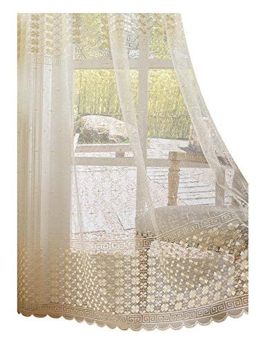 sheer curtains clover embroidered elegance