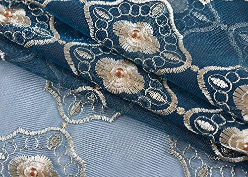 Aside Floral Embroidered Decor Natural Style Voile Living Kitchen -1280131C1FFABUX15084-8511