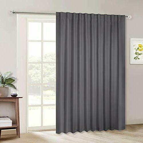sliding door curtains wide thermal blackout patio
