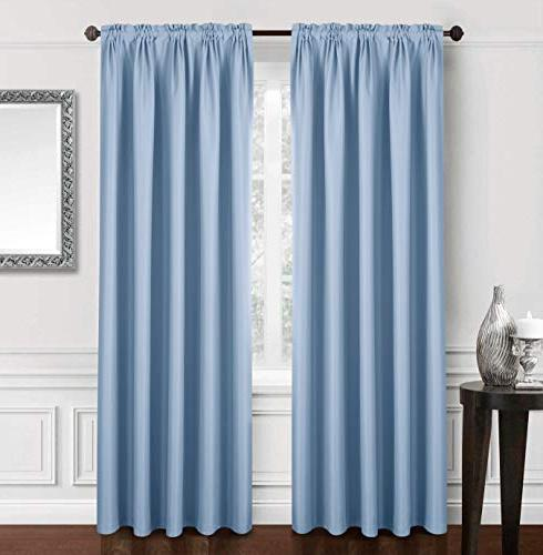 solid blackout curtain bedroom draperies