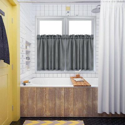 Solid Valance Curtains Kitchen Treatment