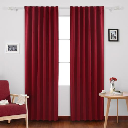 Deconovo Solid Rod Pocket and Back Tab Curtains Thermal Insu