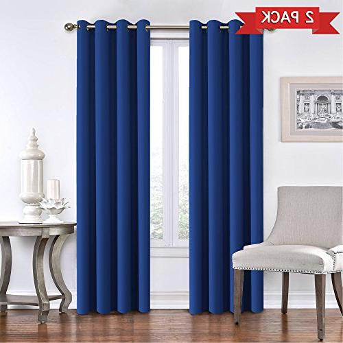solid thermal insulated blackout curtains