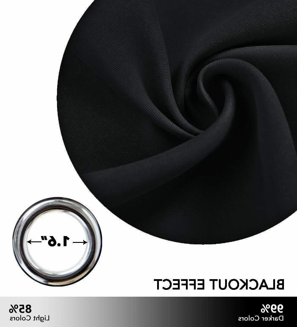"""Soundproof Thermal Blackout Curtain Solid Panel 42""""x84"""""""