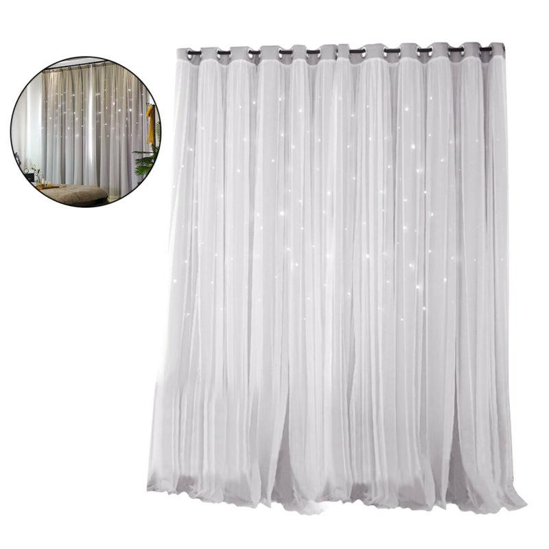 star blockout blackout curtains 2 layers eyelet