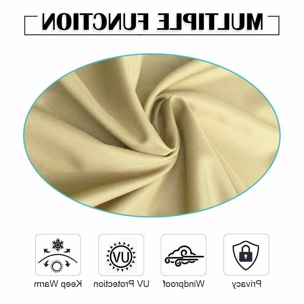 """50""""x84"""" Outdoor/Indoor Curtains for Blackout"""