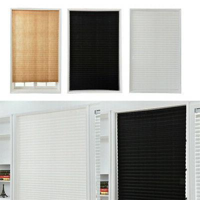 US Temporary Blackout Window Curtain Shade Pleated Blinds Ho