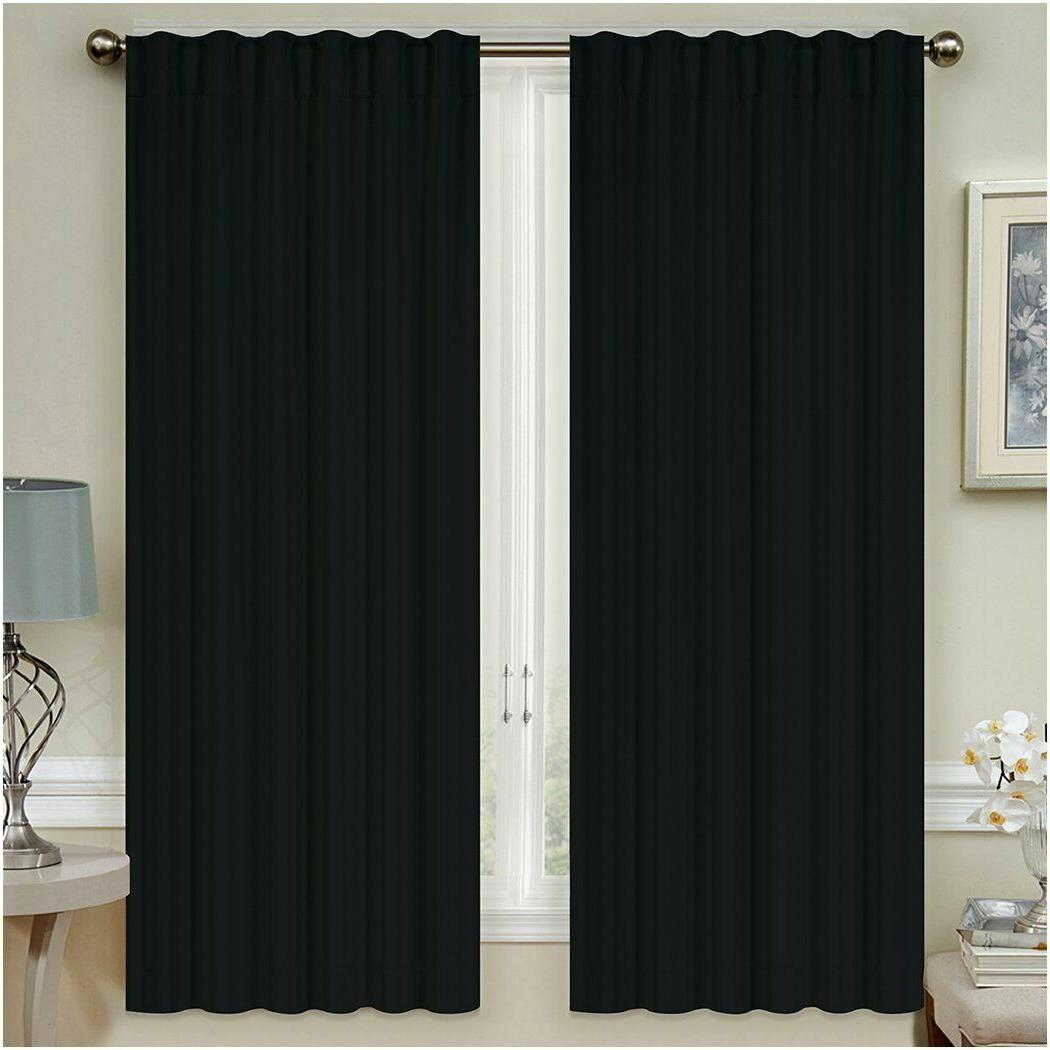 "Mellanni Insulated Curtains 52""x63"" Top 2 Tiebacks"