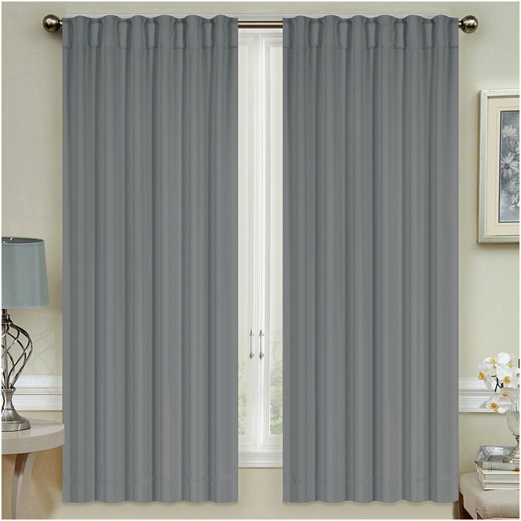 Mellanni Insulated Curtains Top 2 Tiebacks
