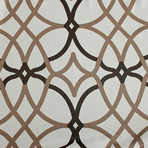 H.VERSAILTEX Thermal Insulated Blackout Grommet Curtain Drapes for Living inch by inch Length-Set of Brown Geo Pattern