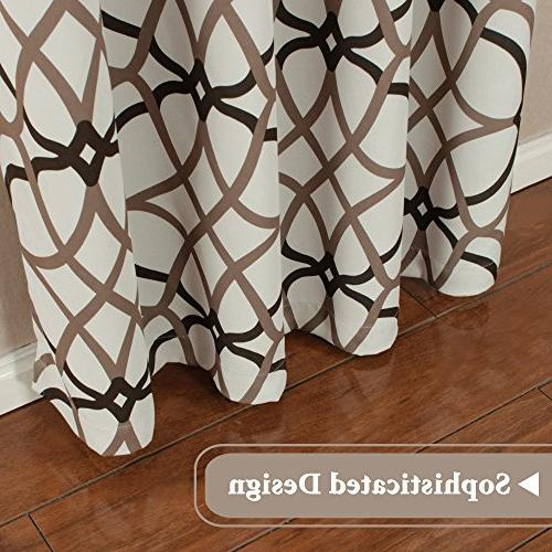 H.VERSAILTEX Thermal Insulated Living Room-52 by inch of Panels-Taupe Brown Pattern