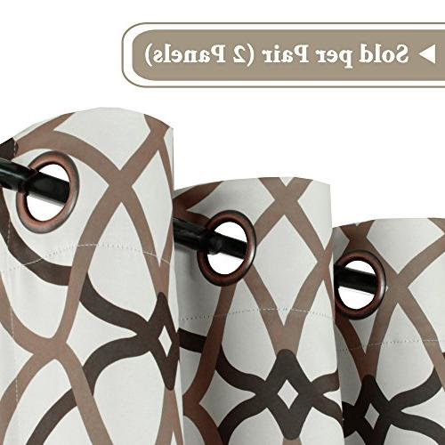 H.VERSAILTEX Blackout Grommet Curtain for Living inch of 2 Panels-Taupe Brown