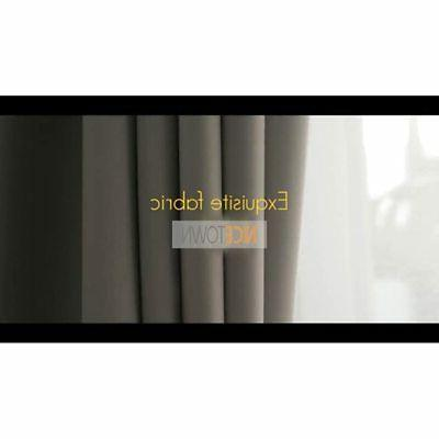 Thermal Insulated Grommet Curtains Bedroom Panels,