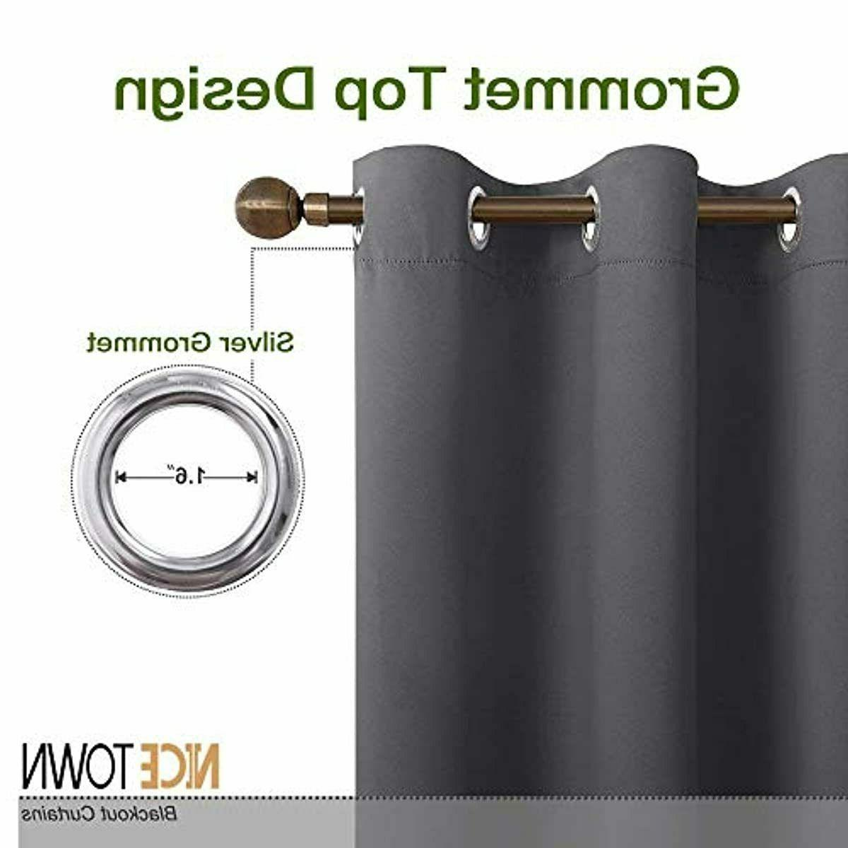 NICETOWN Insulated Blackout Curtains for (2 W42