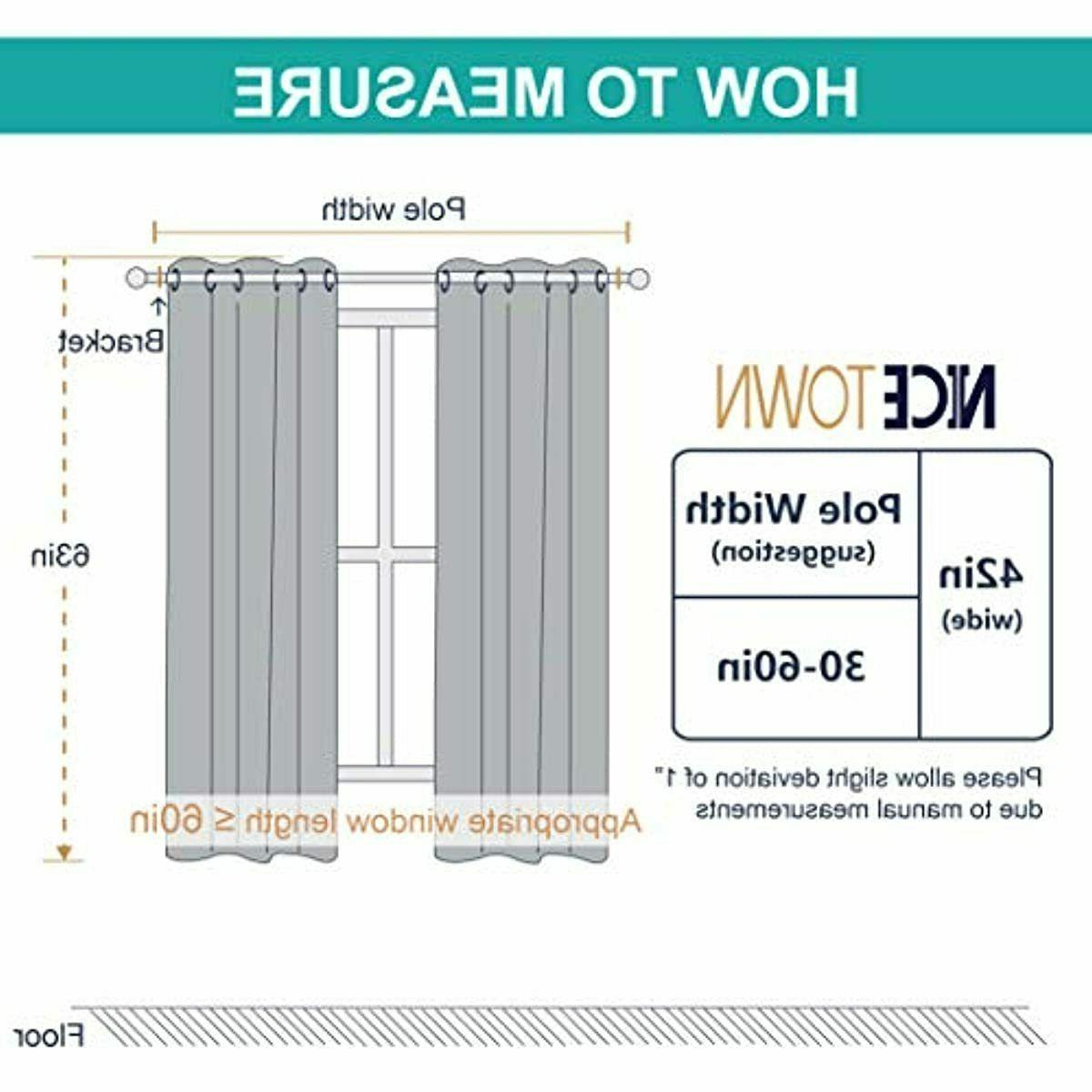NICETOWN Thermal Insulated Blackout Curtains (2 Panels, W42