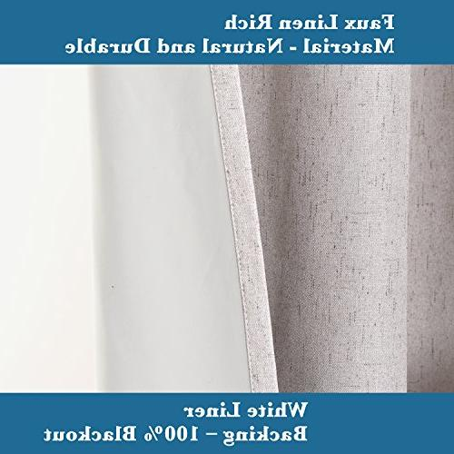 H.VERSAILTEX Thermal Insulated 100% Linen Room Darkening Curtains Bedroom inch Wide 84 Efficient Curtain