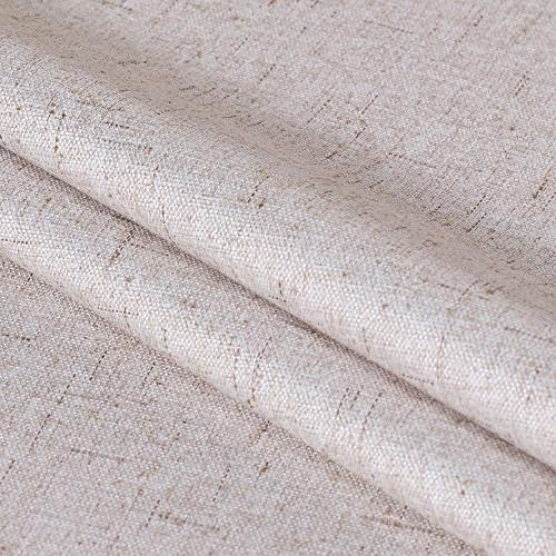 Waterproof Wide Insulated Rich Linen Anti Door Curtain Natural - x 8.3'W x 8'L