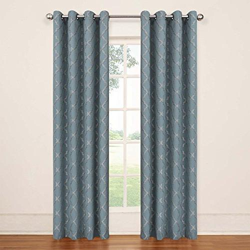 tipton trellis blackout grommet window panel
