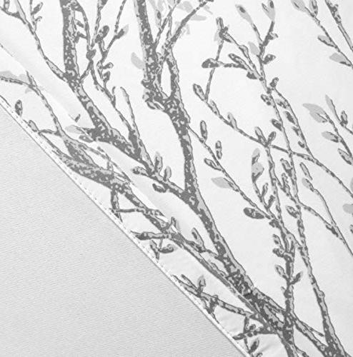 """DriftAway Tree Branch Pattern Painting Thermal Insulated Grommet Window of Panels, 52""""x84"""""""
