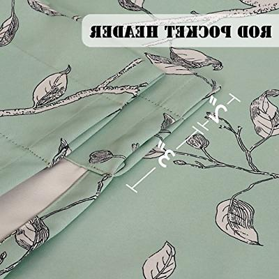 Ultra Soft Windows Curtains Birds Rustic